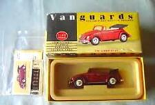 LLEDO VANGUARDS VA2000 VW CABRIOLET die cast model car red open top 1:43rd