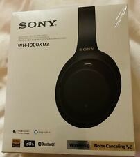 Sony WH-1000XM3 Wireless Noise-Canceling Headphones, Black - NIB