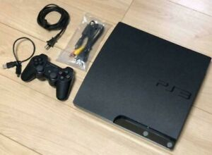 Sony PlayStation 3 Slim PS3 160GB Black Console Japan CECH-2500A Tested Working