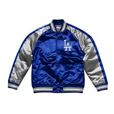 Authentic Color Blocked Los Angeles Dodgers LA Mitchell & Ness MLB Satin Jacket