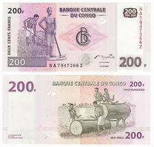 CONGO D.R. 200 Francs *Z* Suffix REPLACEMENT 2007 P-99 UNC Uncirculated