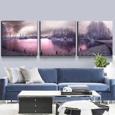 Unframed HD 3Pcs Lake Scenery Modern Canvas Print Art Painting Wall Home Decor