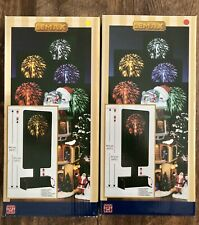 LEMAX Americana FIREWORKS Summer RED & YELLOW Lighted Accessory NEW