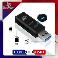 Mini lecteur multi carte mémoire USB 3.0 SD / Micro SD TF OTG