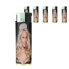 Texas Pin Up Girl D6 Lighters Set of 5 Electronic Refillable Butane
