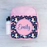 Personalised Unicorn & Rainbows Girls Pink Kids Backpack Children's School Bag