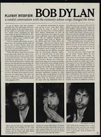 1978 BOB DYLAN Playboy Magazine Interview 15 Page Article & Photos