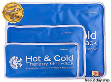 Large Cold Therapy Pad Reusable Gel Ice Pack Pain Relief Sport Back Compress