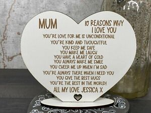 Personalised 10 Reasons Why I Love You Mum/Mummy, Mothers Day, Birthday Gift