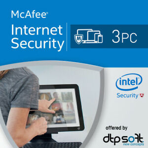 McAfee Internet Security 2021 3 Devices 1 Year UK 1 PC