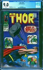 Thor 141 CGC 9.0 -- 1967 -- Kirby Thor Hammer Throw. Who is Replicus #2035308017