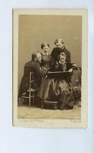 Rosa Bonheur & Family & Painting c1860s CdV Photo Disderi