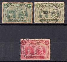 BSAC 1910 Double Heads ½ & 1d lot with Good Postmarks C441