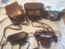 Alte Leder Fototaschen 60 Jahre Voigtländer, Altissa, Konvolut Old leather