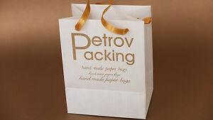Custom printed / personalised extra small paper bags pack of 100 bags .Handmade