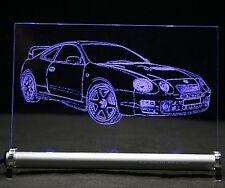 Toyota Celica T20 GT4 als Gravur auf LED Leuchtschild Autogravur Leuchtbild