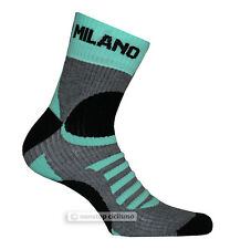 BIANCHI MILANO ORNICA TALL WINTER CYCLING SOCKS : BLACK/CELESTE S/M (38-42)