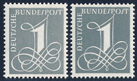 BUND 1958/1960, MiNr. 285 X und 285 Y II, tadellos postfrisch, Mi. 22,-