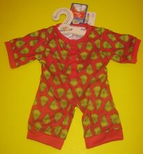 New BUILD-A-BEAR GRINCH SLEEPER PAJAMAS PJ'S Costume Outfit
