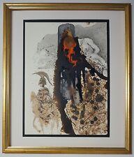 """Original 1967 Salvador Dali Biblia Sacra """"Iesus flagellatus"""" Signed - COA"""