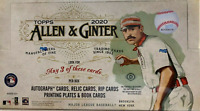 2020 TOPPS ALLEN & GINTER HOBBY BASEBALL BOX ( BUY 2 OR MORE & SAVE)