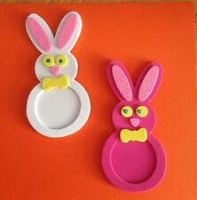 Handcrafted / Handmade Foam Easter Bunny Picture Magnets