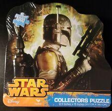 NEW - 1000 Piece Jigsaw Puzzle - Star Wars Boba Fett Collectors Tin  -15x12.5