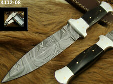 "ALISTAR 9.2"" HANDMADE DAMASCUS STEEL DOUBLE EDGE HUNTING DAGGER KNIFE (4112-8h"
