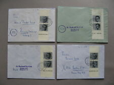 GERMANY BRD, 4x cover with vertical pair from S/S 20th ann. attack on A.H.