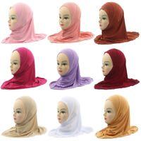 Child Muslim Hijab Islamic Arab Scarf Shawl Kids Girls Headwear Arab Hat lskn