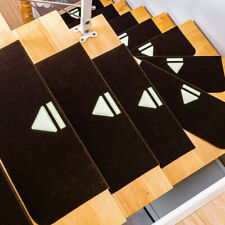 4Pcs Stair Tread Carpet Non Slip Mats Step Staircase Protection Cover Pads Warm