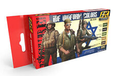 AK Interactive AKI-3230 Figure Series: IDF Uniform Colors Acrylic Paint Set