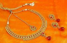 2260 Indian Fashion Jewelry necklace set Bollywood Gold plated traditional Set