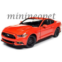 AUTOWORLD AW242 2016 FORD MUSTANG GT 5.0 COUPE 1/18 DIECAST MODEL CAR ORANGE