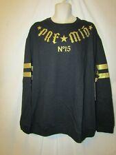 mens ecko premio crew sweatshirt  XXXL nwt athletic styling black