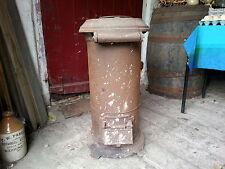 Vintage Antiguo Estufa Calefactor Grandes Azul Marino Original Segunda Guerra Mundial Comedor