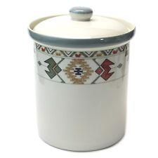 "Studio Nova Timberline Flour Canister Y2318 Aztec Style 7 1/8"" tall EUC"