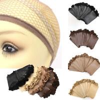 US 1 Piece Mesh Wig Cap Elastic Band & Net Ultra Stretch Cap 4 Colors