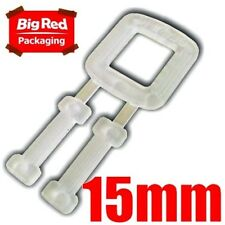 1000 X 15mm Plastic Buckles for Poly Strapping Strap