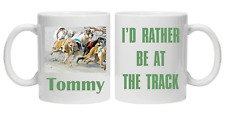 PERSONALISED GREY HOUND RACING TRACK BETTING NOVELTY MUG RACE GIFT TEA COFFEE
