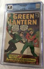 Green Lantern #40 DC Comics CGC grade 4.0 C/OW pages 1st app Krona 1965