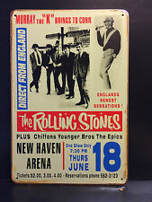THE ROLLING STONES NEW HAVEN ARENA 18 JUNE VINTAGE STYLE METAL SIGN  20x30 CM
