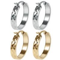 6 Pair/Lot Stainless Steel Punk Small Gold/Silver Women Lady Ear Hoop Earrings