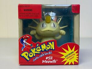 POKEMON new VINTAGE Electronic Chattering Voice Hasbro 1998 Meowth #52