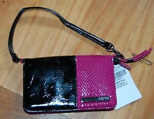 Kenneth Cole Reaction NWT Small Wristlet Purse Wallet Black and Purple NEW!