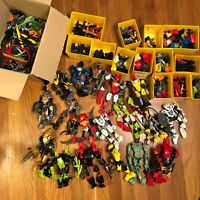 LEGO Bionicle / Hero Factory Bulk Lot of 18 + Lot of Parts & Pieces HUGE LOT