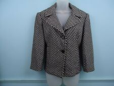 Monacco Womens wool blend jacket blazer UK 18 black and white office wear