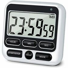 Digital Kitchen Timer With Mute/Loud Alarm Switch ON/OFF Switch 12 Hour Clock