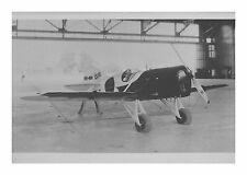 Gee Bee Sportster NR-49V #8 in Hanger Black & White 5x7 Photo
