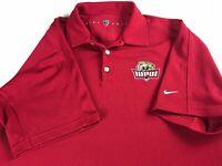 IUPUI Polo Shirt Fits Mens Large Nike Waffle Textured Jaguars Student Alumni